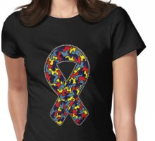 Autism Ribbon Womens Fitted T-Shirt