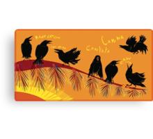 Crow time Canvas Print