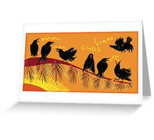 Crow time Greeting Card