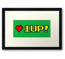8-bit 1UP Framed Print