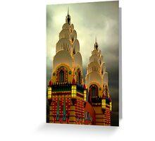 Luna Park Towers Greeting Card