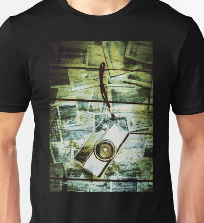 Old retro film camera in creative composition Unisex T-Shirt