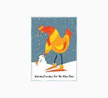 Holiday Chicken Wishes Unisex T-Shirt
