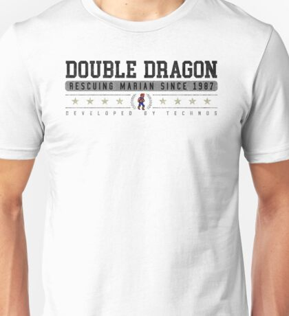 Double Dragon - Vintage - White Unisex T-Shirt