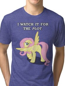 For the Plot (Fluttershy) Tri-blend T-Shirt