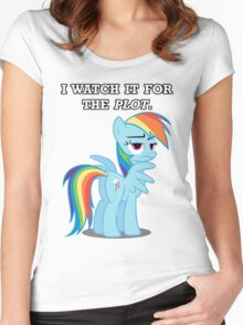 For the Plot (Rainbowdash) Women's Fitted Scoop T-Shirt