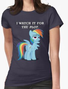 For the Plot (Rainbowdash) Womens Fitted T-Shirt