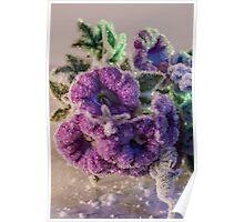 Crystal Purple Flowers Poster