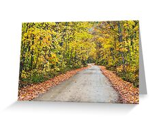 Autumn Country Road Greeting Card