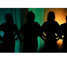 Silouette Singers Photographic Print