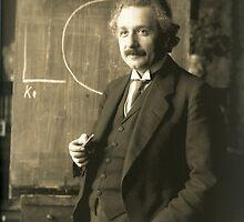 Albert Einstein - Chalkboard by GodsAutopsy