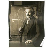 Albert Einstein - Chalkboard Poster