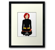 A One Woman Catastrophe Framed Print
