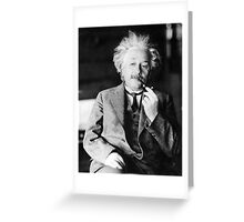 Albert Einstein with a Pipe Greeting Card