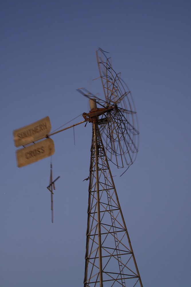 Out of Action Windmill, Mt Dare by Bronwyn  Murphy