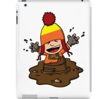 Makin' mudpies! iPad Case/Skin