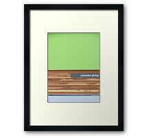 commuters pitstop Framed Print