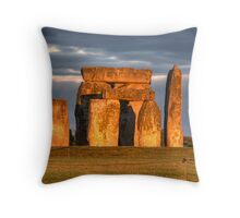 Stonehenge Sunset Throw Pillow