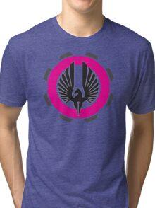 DarkHorse Designs Logo Magenta Tri-blend T-Shirt