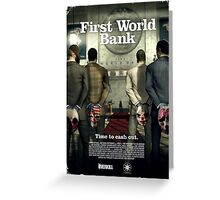 Payday - First World Bank Greeting Card