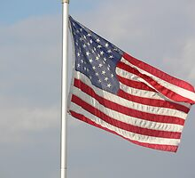 Untied States Of America Flag of our fathers by Howard Clem