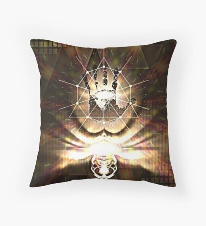 Cosmic Hand design - title pending Throw Pillow