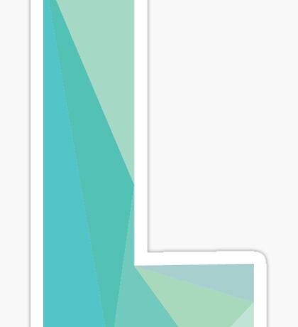 L - The Letter Series Sticker