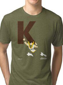 Karate Kid - Superhero Minimalist Alphabet Clothing Tri-blend T-Shirt