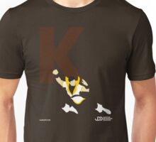 Karate Kid - Superhero Minimalist Alphabet Clothing Unisex T-Shirt