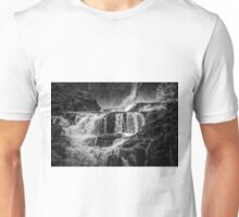 Iguaza Falls - Over the Rocks - Monochrome Unisex T-Shirt