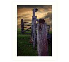 Fence to Nowhere Art Print