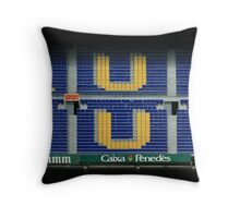 Camp Nou Throw Pillow