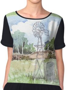 Windpomp in South Africa Chiffon Top