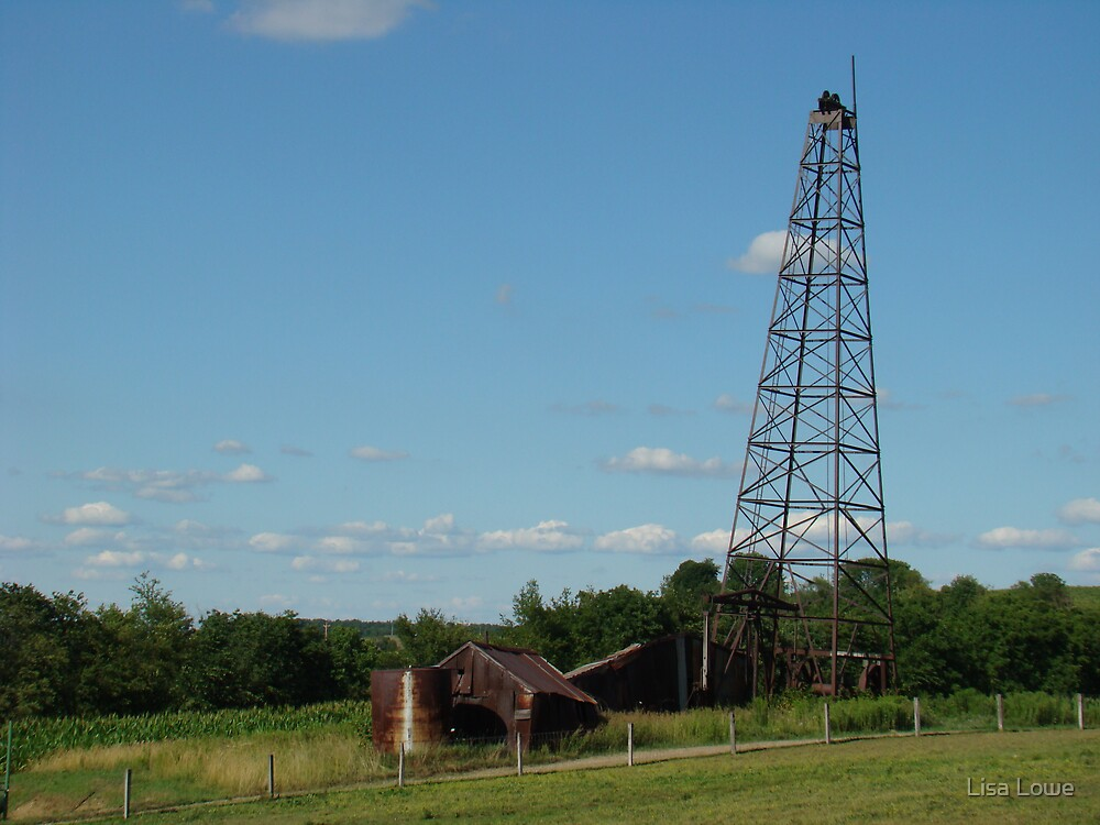 Old fashioned oil well by Lisa Lowe