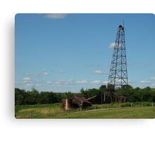 Old fashioned oil well Canvas Print