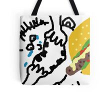 Crying Fat Boy Gobbles Snack Tote Bag