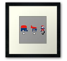 Vote for the Mario Party Framed Print
