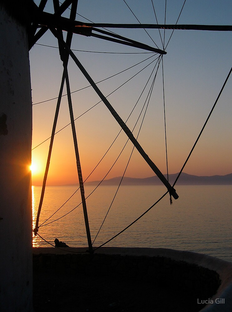 Sunset in Greece by Lucia Gill