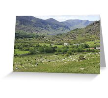 Macgillycuddy's Reeks, Killarney National Park, Co. Kerry, Ireland Greeting Card