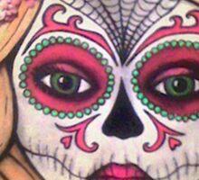 Sugar Skull Blonde Sticker