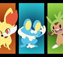 Pokemon X and Y Starters by StiLing