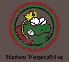 Hates: Vegetables (Battle Damage) Baby Tee