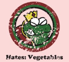 Hates: Vegetables (Battle Damage) One Piece - Short Sleeve