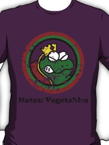 Hates: Vegetables (Battle Damage) T-Shirt