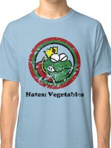 Hates: Vegetables (Battle Damage) Classic T-Shirt