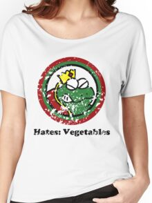 Hates: Vegetables (Battle Damage) Women's Relaxed Fit T-Shirt