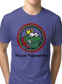 Hates: Vegetables (Battle Damage) Tri-blend T-Shirt