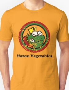 Hates: Vegetables (Battle Damage) Unisex T-Shirt