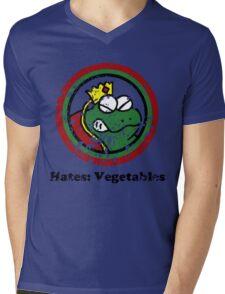 Hates: Vegetables (Battle Damage) Mens V-Neck T-Shirt