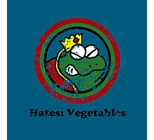 Hates: Vegetables (Battle Damage) Photographic Print